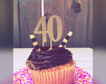 40th birthday cupcake toppers, 40th birthday, 40, 40th birthday decorations, 40th birthday decor, birthday decor, party decorations
