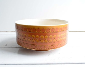 Vintage 1970s Hornsea England Saffron Pattern Large Bowl/Serving Dish