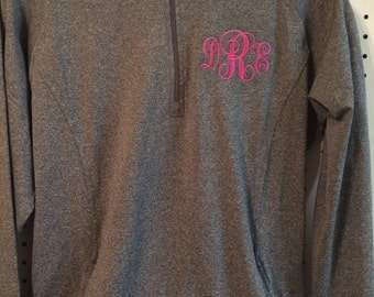 Monogrammed, Embroidered, Personalized, ladies, Moisture-wicking, sport, 1/2 zip, jacket