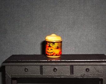 Dollhouse Miniature Halloween Pumpkin Cookie Jar