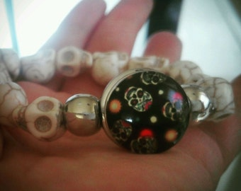 Snap Chunk Day of the Dead Bracelet