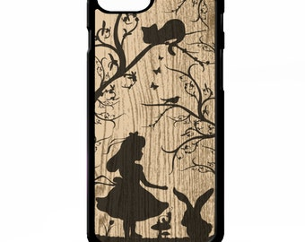 Alice in wonderland silhouette pretty story art vintage cover for Samsung Galaxy S5 S6 edge plus note 4 5 Sony xperia Z2 Z3 Z5 phone case