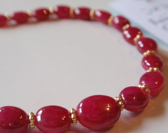 Ruby Necklace  Oval   (  JK752)