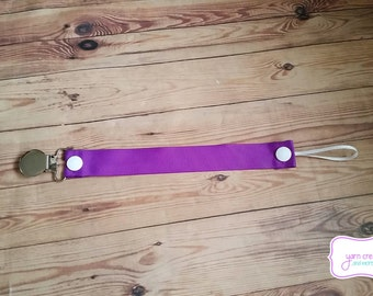 Soothie Pacifier Holder--Dark Purple