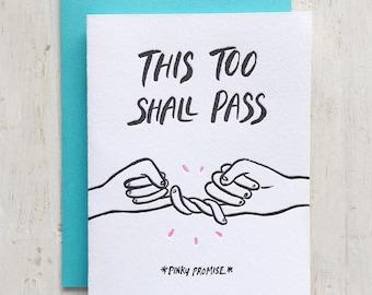 Pinky Promise Letterpress Card