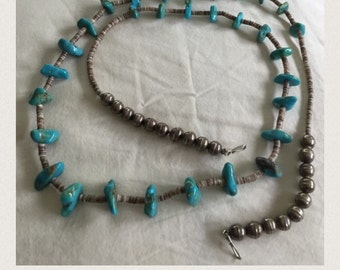 Vintage Turqoise and sterling silver necklace