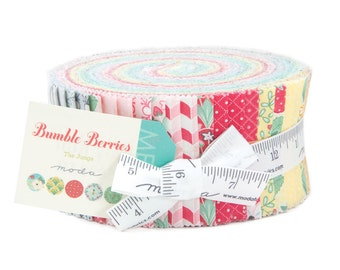"Bumble Berries Jelly Roll by The Jungs for Moda, 40 - 2 1/2"" x 42"" strips"