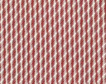 Florence Jagged Stripe - Carnelian by Denyse Schmidt for Free Spirit Fabrics, 1/2 yard, PWDS052.Carne