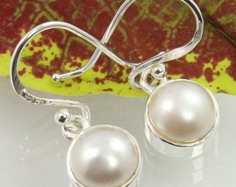 PEARL 925 Solid Sterling Silver.925 Earrings