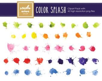 Color Splash Clipart Set