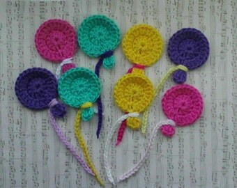 U pick colors - Set of 8 Medium Crochet Balloons - 1.6' x 2' or 4 x 5 cm - 89 Colors Available
