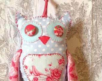 OWL, Owls Tilda fabric upholstered