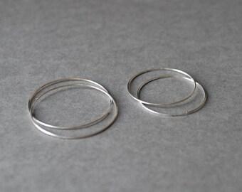 Sterling Silver Circle hoop earrings, lightweight hoop, simple hoop earrings,thin circle hoop earrings