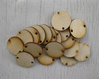 Wood Discs and Jump Rings for Birthday Boards