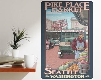 Pike Place Seattle Washington Wall Decal - #60739