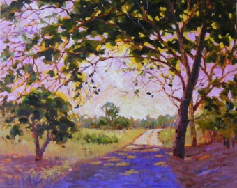 Sunny road,  16 x 20 in, Original oil painting