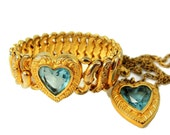 Sweetheart Expansion Bracelet Necklace Set Pitman & Keeler Vintage