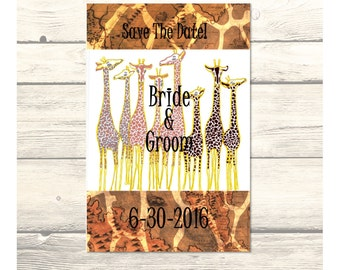 """African Design 2 Wedding """"Save the Date"""" Cards Customizable - Printable Digital Download"""