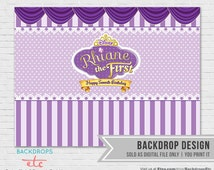 Sofia the First Printable Backdrop - in Digital file, YOU PRINT