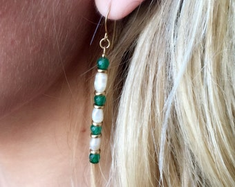 Pearls and emeralds