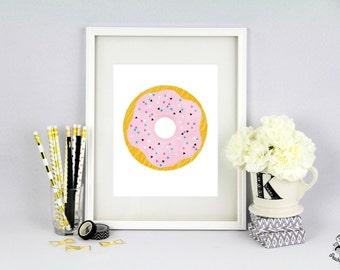 Donut Poster Print Wanddeko Download Printable