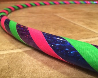 The Midnight Rainbow- Perfect Beginners Hula Hoop