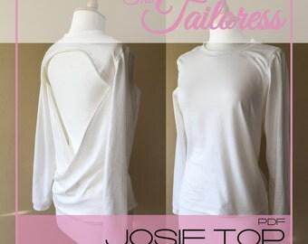 Josie Sway Back Top PDF Sewing Pattern