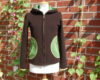 Mandy Fleece dark brown hooded jacket