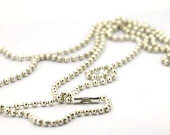 40inches/1 meter long Solid Sterling Silver Chain Necklace