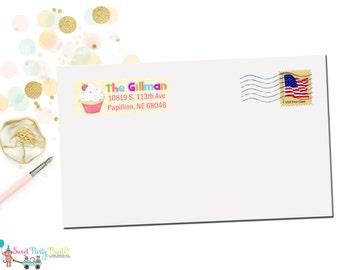 Sweet Cupcake Address Label ( SKU: SCAL01 )
