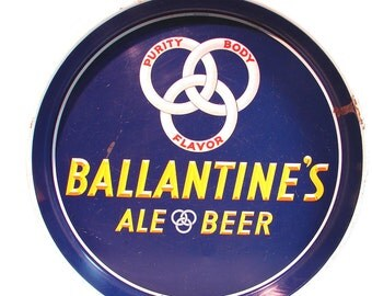 Vintage Ballantine's Ale Beer Tray P. Ballantine's & Sons Newark NJ Collectible