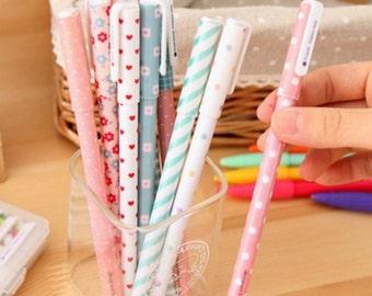 Set of 10 Colourful Gel Pens
