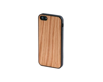 Real Oak Wood iPhone 5/5S Case with Bumper Edge