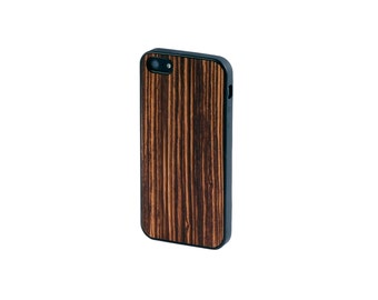 Real Zebrawood Wood iPhone 5/5S Case with Bumper Edge