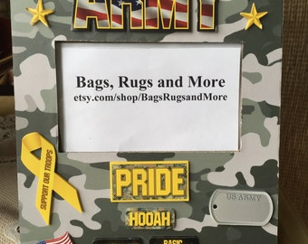 Army picture frame, U.S. Army, Army Pride, Army life, HOOAH, Patriotic