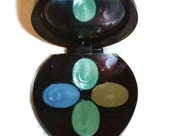60s 70s Vintage AVON Eye Compact NOS Makeup Boho Hippie Chic Cream EyeShadow Twiggy Greens Blues Shadow Cosmetics Mod 1970s Vanity Prop Gift
