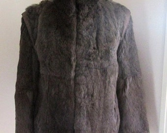 30% OFF - Antique 1970s TAUBE Collection London vintage rabbit fur jacket. UK Size 12