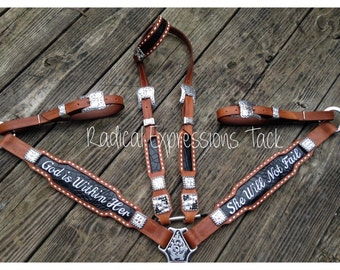 Embroidered tack set