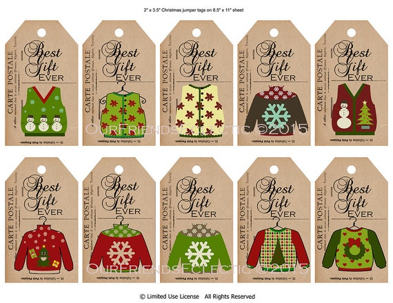 Digital Christmas tags