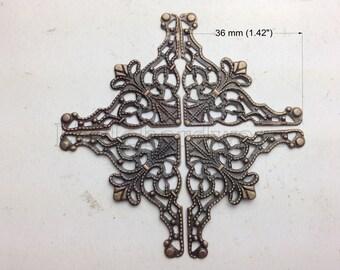 "16PCS 1.42"" 'The Christmas tree' 3 Colors ornate box corners / decorative corners/metal corner bracket/jewelry box corner/wooden box finding"