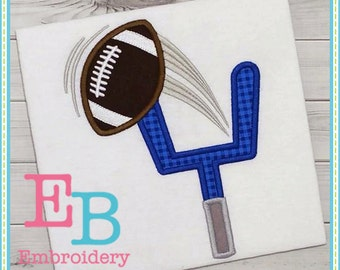 Football Goal Applique Design - This design is to be used on an embroidery machine. Instant Download