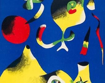 JOAN MIRO - 'Air' - limited edition vintage lithograph - c1937 (Mourlot/Teriade/Verve, Paris)
