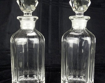 2 Antique Glass Cruet Bottles FREE SHIPPING