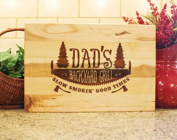 Father's Day Gift Backyard Grill BBQ Man Gift Cutting Board
