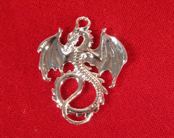 "BULK! 15pc ""dragon"" charms in silver style (BC1005B)"
