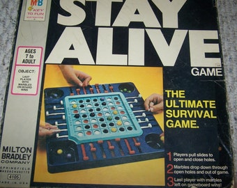 Stay Alive Marble Game ~ Milton Bradley ~ 1971 ~ The Ultimate Survival Game