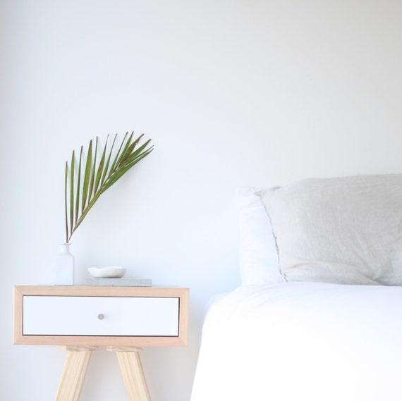 dolly drawer midcentury modern bedside table scandi by. Black Bedroom Furniture Sets. Home Design Ideas