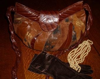Vintage Park Avenue Inc. Brown leather Shoulder Strap Purse, Leather Handbag