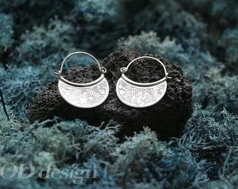 Ethnic Silver Earring
