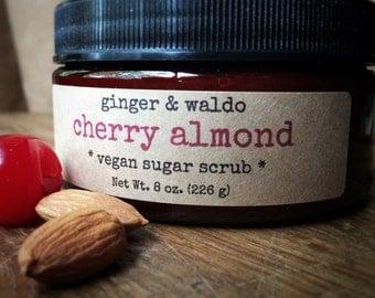 Cherry Almond Vegan Sugar Scrub - Cherry Almond - Cherry Almond Scrub - Vegan Scrub - Sugar Scrub - Body Polish